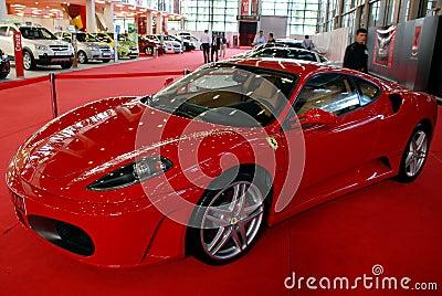 Ferrari at the auto show Editorial Stock Photo