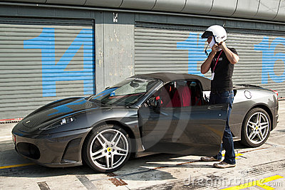 Ferrari at Autodromo di Monza Editorial Stock Image