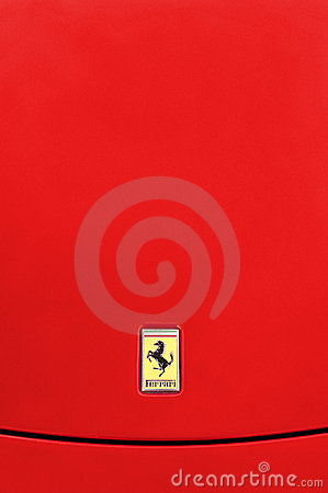 Ferrari Background Editorial Stock Image