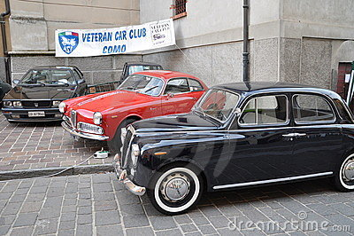 Ferrari and classic cars show Como italy Editorial Stock Photo