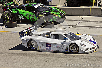 Ferrari & Corvette Can-Am @ Grand AM Rolex Races Editorial Photo