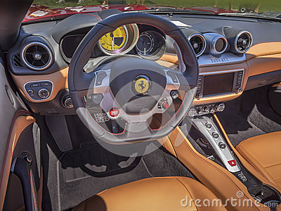 ferrari dashboard interior editorial image image 57581240. Black Bedroom Furniture Sets. Home Design Ideas
