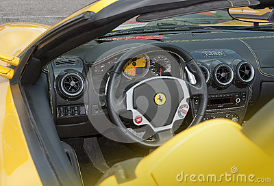 ferrari dashboard and interior editorial stock image image 50948904. Black Bedroom Furniture Sets. Home Design Ideas