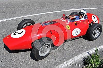 Ferrari Dino F1 1959 -Vernasca Silver Flag 2011 Editorial Stock Image