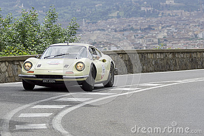 Ferrari Dino 246 GT driven by Summerfield Lester Editorial Photo