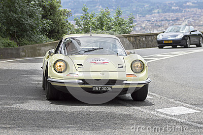 Ferrari Dino 246 GT driven by Summerfield Lester Editorial Image