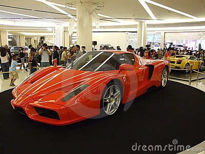 Ferrari on display, Bangkok, Thailand. Editorial Stock Image