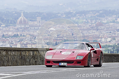 Ferrari F40 driven by Rader Klaus Editorial Image
