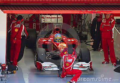 Ferrari F1 team Editorial Photo