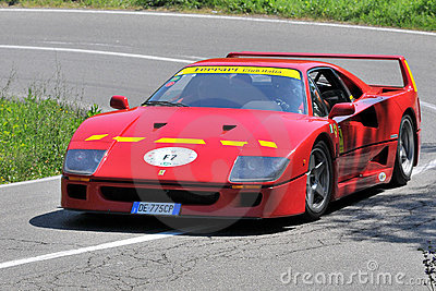 Ferrari F40 -Vernasca Silver Flag 2011 Editorial Photo