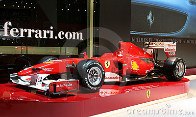 Ferrari Formula 1 car at Paris Motor Show Editorial Image