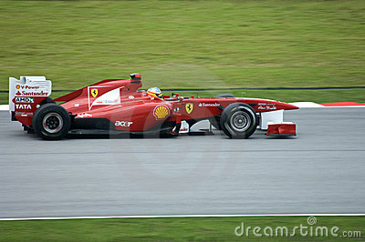 Ferrari Formula One Team: Fernando Alonso Editorial Photo