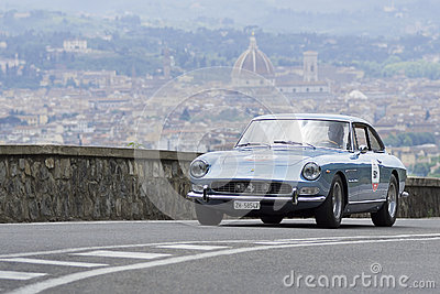 Ferrari 330 GT 2+2 driven by Straub Peter Editorial Stock Image