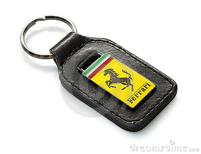 Ferrari key fog Editorial Stock Photo