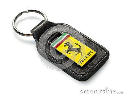 Ferrari key fog Editorial Stock Photo
