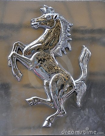 Ferrari logo, italian iconic brand  Editorial Image