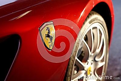 Ferrari Logo Editorial Stock Photo