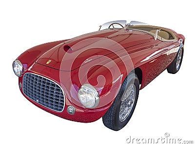 Ferrari 166 MM Barchetta, isolated Editorial Image