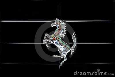 Ferrari prancing horse Editorial Stock Image