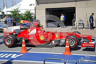 Ferrari Racing Car in 2012 F1 Canadian Grand Prix Editorial Image