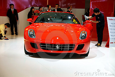 Ferrari red sports car Editorial Photography