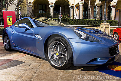 Ferrari Show Day - Ferrari California Azzuro blue Editorial Photography