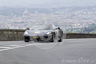 Ferrari 430 Spider driven by Van Der Bour Ronald Editorial Image