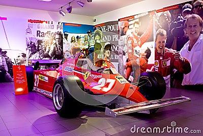 Ferrari sport car formula 1 in Museum Ferrari Editorial Image