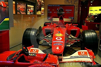 Ferrari store in Italy  Editorial Photography