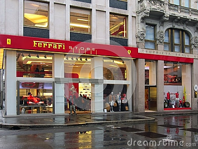 Ferrari Store in Milan Editorial Image