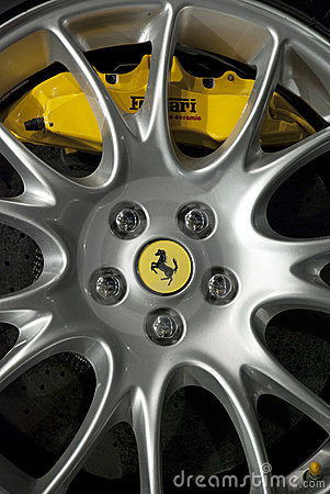 Ferrari wheel Editorial Photography