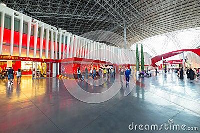 Ferrari World at Yas Island in Abu Dhabi Editorial Photography