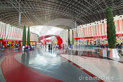 Ferrari World at Yas Island in Abu Dhabi Editorial Photography