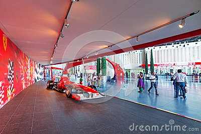 Ferrari World at Yas Island in Abu Dhabi Editorial Stock Image