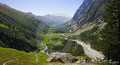Ferret valley , Courmayeur