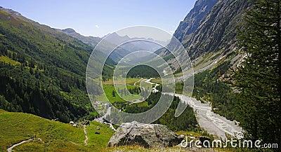 Ferret valley , Courmayeur