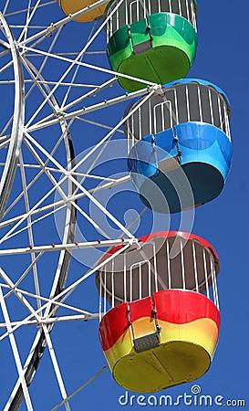 Ferris kolorowy koło