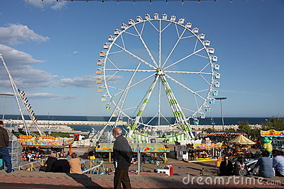 Ferris whee. Festival of April, Barcelona Editorial Stock Image