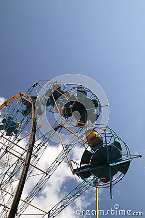 Ferris wheel attraction.