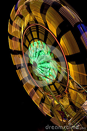 Ferris Wheel with blur on black