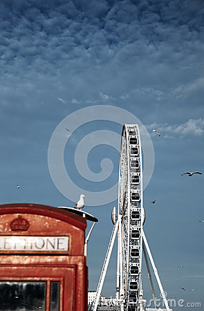 Ferris wheel brighton england amusement