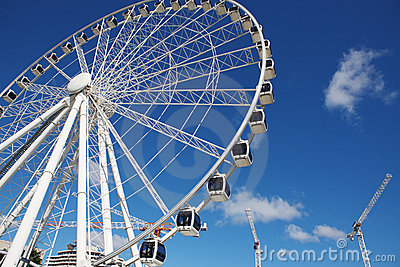 Ferris wheel in the Brisbane