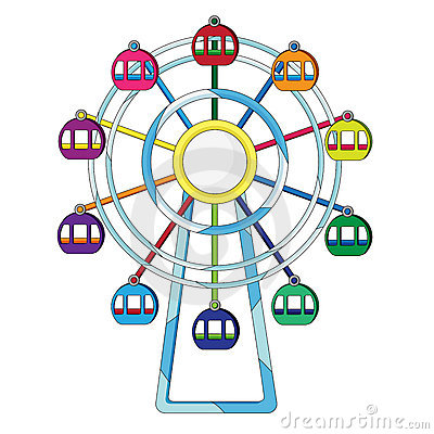 Free Ferris Wheel Illustration Royalty Free Stock Images - 7302319