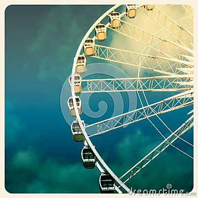 Ferris wheel old photo
