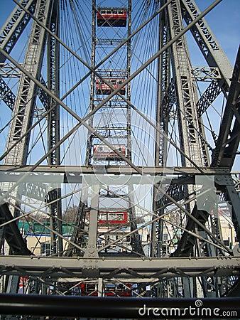 Ferris wheel at Prater park Editorial Photo