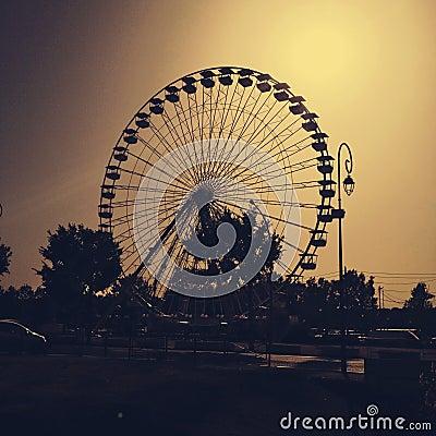 Ferris Wheel Silhouette Stock Photo - Image: 41424667