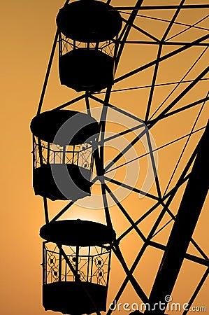 Ferris Wheel Silhouette. Stock Photo - Image: 39805181