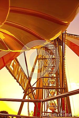 Ferris wheel at sunrise