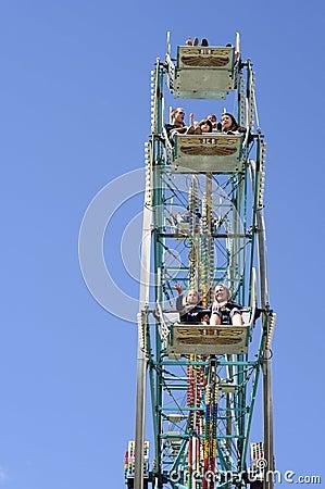 Ferris wheel vertical Editorial Image