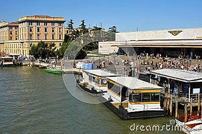 Ferrovia Station in Venice Editorial Stock Photo